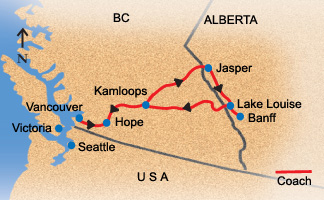 Vancouver To Canadian Rockies Fully Guided Bus Tour