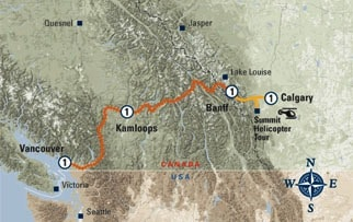 First Passage to West Excursion map