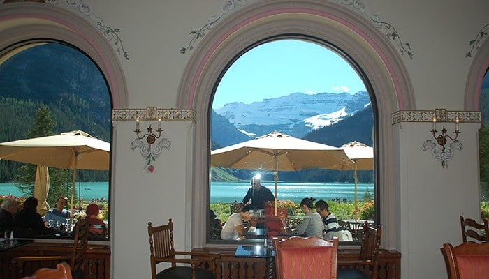 Lake Louise from the Hotel Restaurant