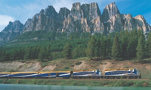 Banff to Vancouver train onboard Rocky Mountaineer